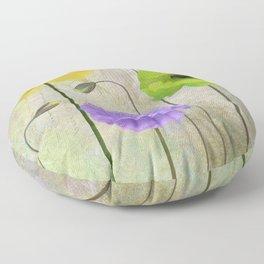 Poppy Shimmer I Floor Pillow