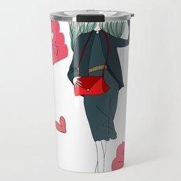 Stylish Parisian girl Travel Mug