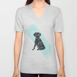 Geometic dog Unisex V-Neck