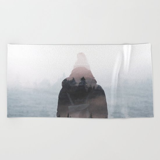 All your weight falls on me Beach Towel