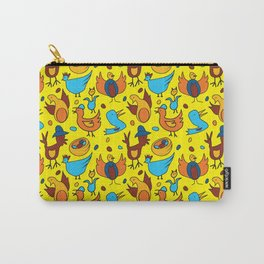 Crazy Birds Carry-All Pouch