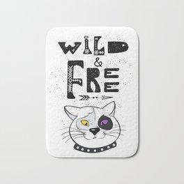 Wild and Free cat. Bath Mat