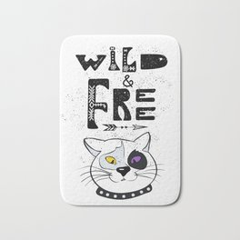Wild and Free cat. Bath Mat