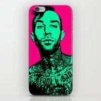 blink 182 iPhone & iPod Skins featuring Travis Barker (Blink-182) by Blake Lee Ferguson
