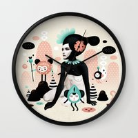 ruben ireland Wall Clocks featuring Kobana - Muxxi X Ruben Ireland by Muxxi
