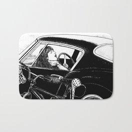 asc 432 - Le bolide noir (Never go into a black car) Bath Mat