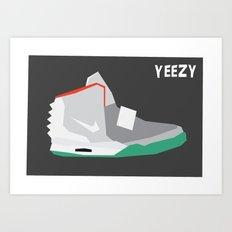 Minimalist Sneaker Print Art Print