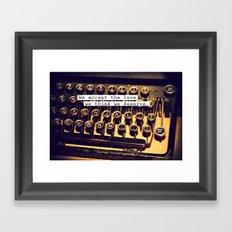 Perks OF a typewritter Framed Art Print