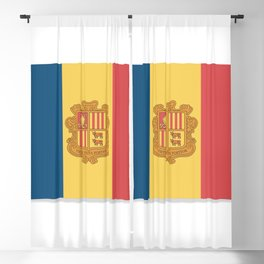 Flag of Andorra, officially the Principality of Andorra. Blackout Curtain