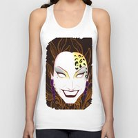 bianca green Tank Tops featuring The panther, Bianca  by Francine Oliveira
