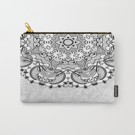 Mandala BW Carry-All Pouch