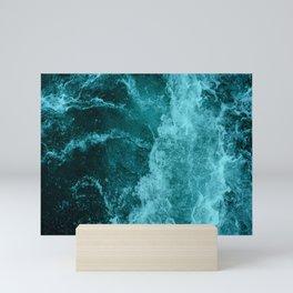Blue Pacific Ocean Waves Mini Art Print