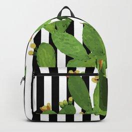 stripe succulent Plants Backpack