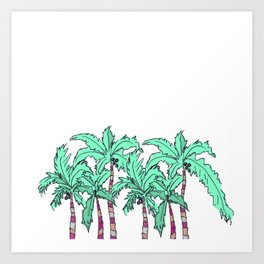 Tropical Palm Trees Art Print