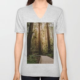 Muir Woods | California Redwoods Forest Nature Travel Photography Unisex V-Neck