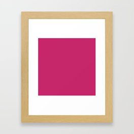 Fuchsia Ultra Pink Wall Decor,  Room Decor, Vanity Wall Art, Bathroom, Gift for Her Framed Art Print