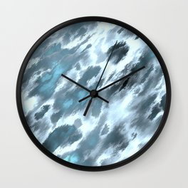 Blue animal print Wall Clock