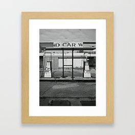 Railside Service Station Framed Art Print