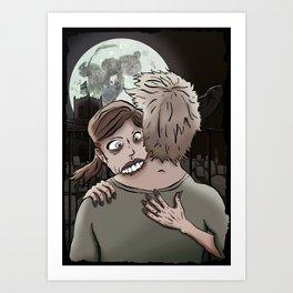 Hugs & Kisses - Gloomy Art Print