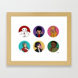 Big Hero 6 - buttons Framed Art Print