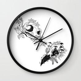 Fauna and Flora - B&W Wall Clock