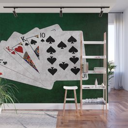 Poker Hand Two Pair Ace King Ten Wall Mural