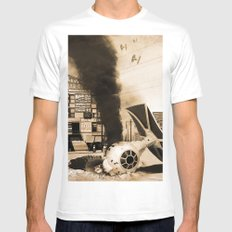 Crash Site - Wars from the Stars Mens Fitted Tee MEDIUM White
