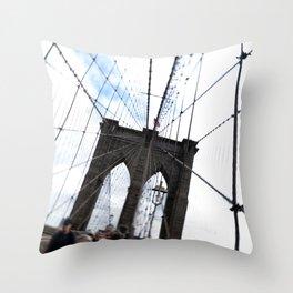 Brooklyn Bridge, quaking. Throw Pillow