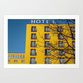 Hotel and yellow Art Print
