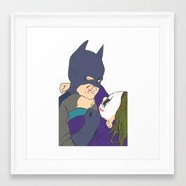 The childhood hero Framed Art Print
