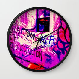 Curious to the Point of Destruction Wall Clock