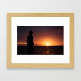 Sunset Sillhuette Framed Art Print