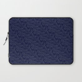 Muted '90s Fern Background Grid at Dusk – Deep Blue Laptop Sleeve
