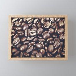 roasted coffee beans texture acrfn Framed Mini Art Print