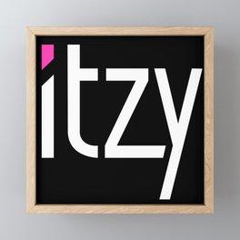 Itzy Logo Framed Mini Art Print