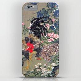 Jakuchu Niwatori Rooster iPhone Case
