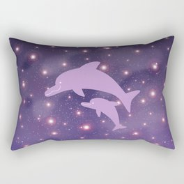 Parent-child of dolphin in Universe _03 Rectangular Pillow