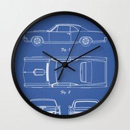 PONTIAC GTO patent print, pontiac gto poster, muscle car decor, pontiac gto blueprint Wall Clock