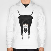 hearts Hoodies featuring Bear Warrior by Ruben Ireland