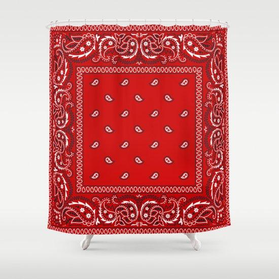 Paisley - Bandana - Red - Southwestern - Boho by rosemarya