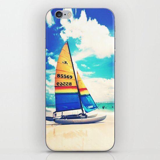 Siesta Key, FL - Sailboat iPhone & iPod Skin