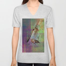 cats in courtship Unisex V-Neck