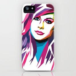 Avril Lavigne - WPAP art iPhone Case
