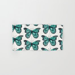 Turquoise Butterfly Hand & Bath Towel