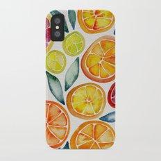 Sliced Citrus Watercolor Slim Case iPhone X