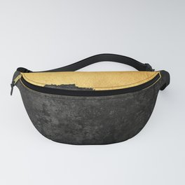 Black Grunge & Gold texture Fanny Pack