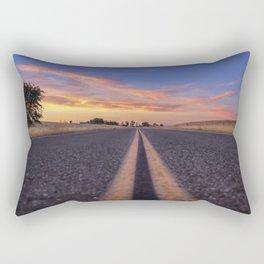 Follow the.... Millville Plains Road at sunset Rectangular Pillow