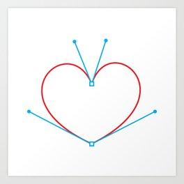 Bezier Love Art Print