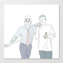 Yung Lean & Charlie Sheen Canvas Print