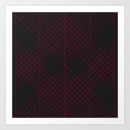 Rubin Red Black Art Print